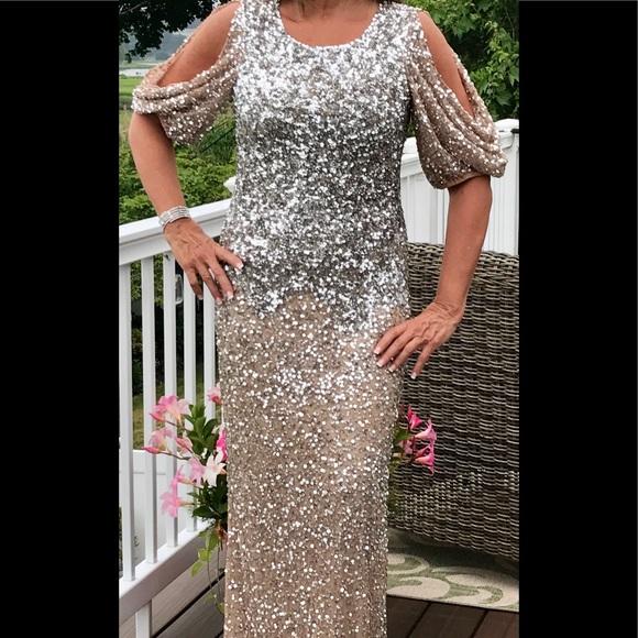 Parker Dresses & Skirts - Parker Black sequin gown, size 8